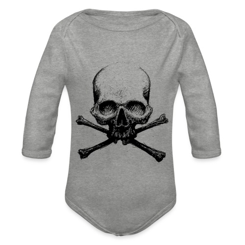 DeadSkull - Body ecologico per neonato a manica lunga