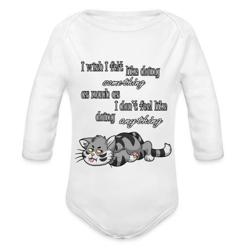 I Wish I Felt Like... - Ekologiczne body niemowlęce z długim rękawem