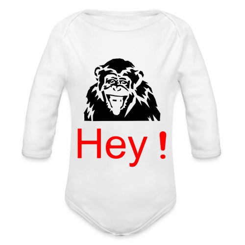 hey! monkey - Body Bébé bio manches longues