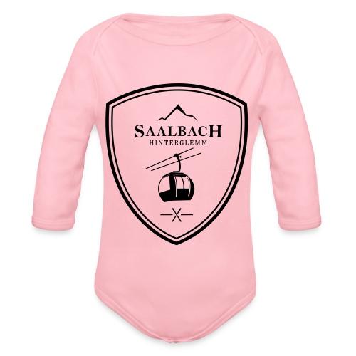 Skilift embleem Saalbach Hinterglemm - Baby bio-rompertje met lange mouwen