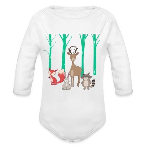Las body dziecko - Ekologiczne body niemowlęce z długim rękawem
