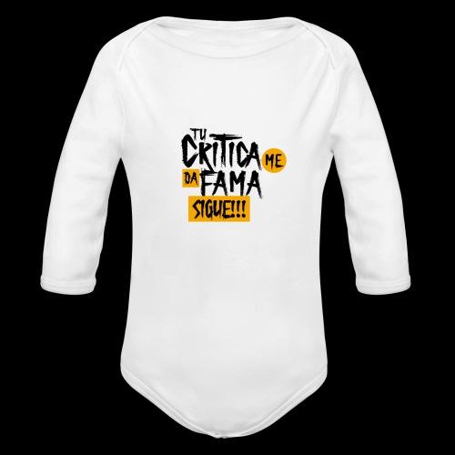 CRITICA - Body orgánico de manga larga para bebé