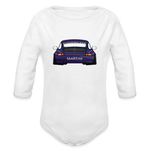 Magenta maritini Sports Car - Organic Longsleeve Baby Bodysuit
