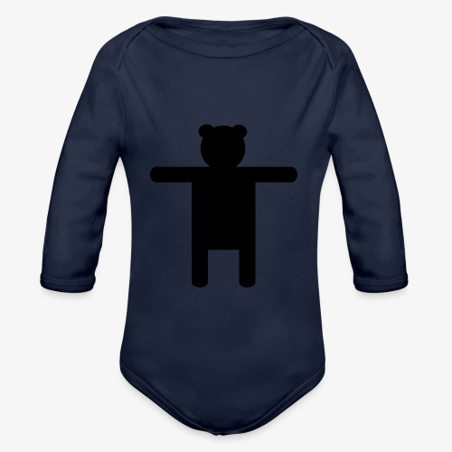 Epic Ippis Entertainment logo desing, black. - Organic Longsleeve Baby Bodysuit