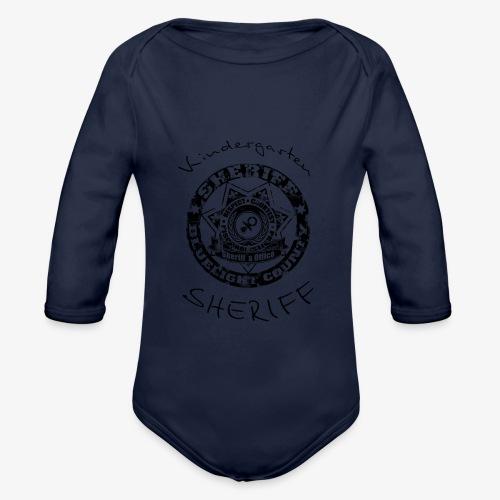 kindergarten sheriff schwarz - Baby Bio-Langarm-Body