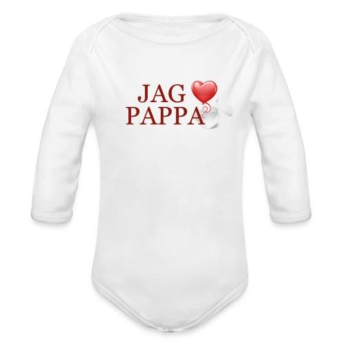 Jag älskar pappa - Ekologisk långärmad babybody
