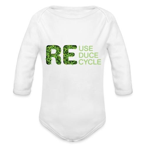 REuse REduce REcycle - Body ecologico per neonato a manica lunga