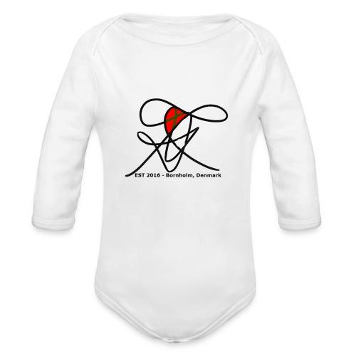 Bornholm Tee - Langærmet babybody, økologisk bomuld