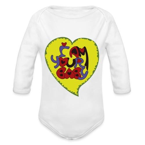 chica de tu corazón, tu chica, your baby - Body orgánico de manga larga para bebé