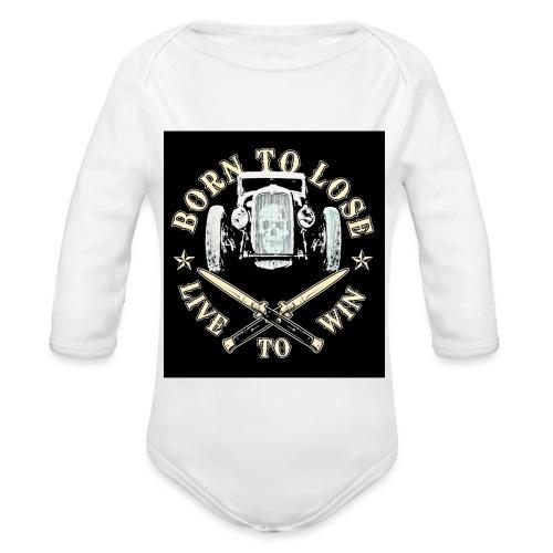 BORN TO LOSE - Body ecologico per neonato a manica lunga