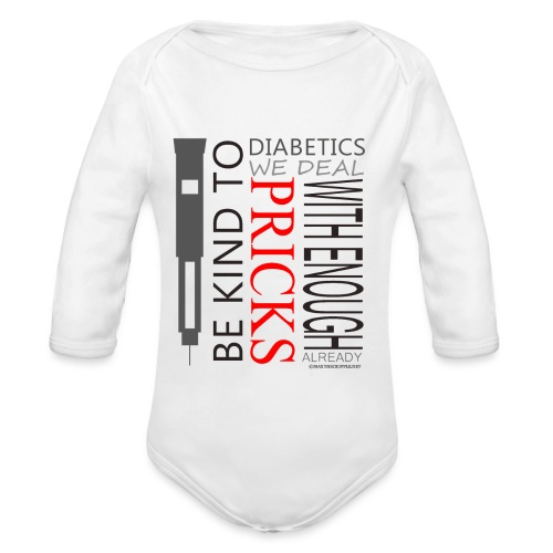 Be Kind To Diabatics (Kids) - Organic Longsleeve Baby Bodysuit