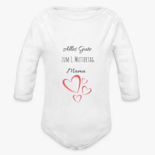 BABY erster Muttertag - by Muttertags Design - Baby Bio-Langarm-Body