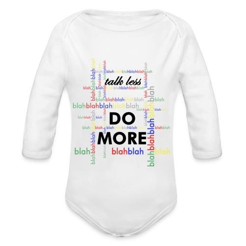 Talk less do more - Body ecologico per neonato a manica lunga