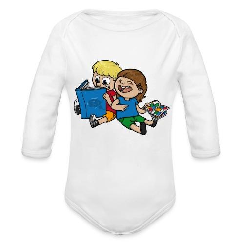 Kinder, lest mehr Bücher und Comics! - Baby Bio-Langarm-Body