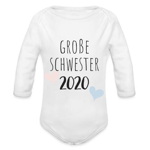 Große Schwester 2020 - Baby Bio-Langarm-Body