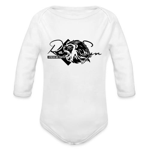 RaSyn Lion Black n White ® - Baby Bio-Langarm-Body