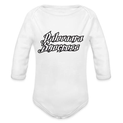 PSnow copy gif - Ekologisk långärmad babybody