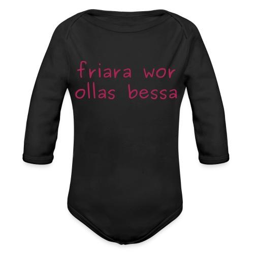 friara wor ollas bessa - Baby Bio-Langarm-Body
