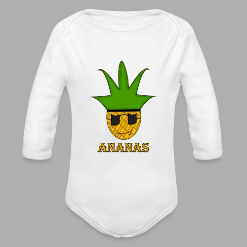 ananas png - Body Bébé bio manches longues