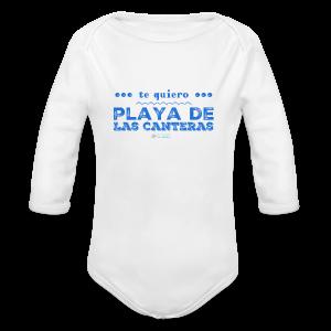 Te quiero Playa de Las Canteras - Body orgánico de manga larga para bebé