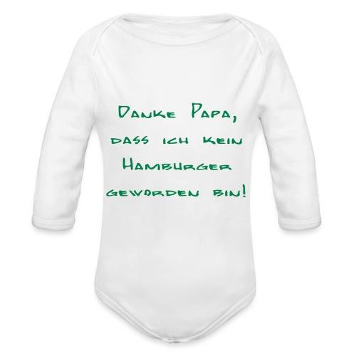 Danke Papa - Baby Bio-Langarm-Body
