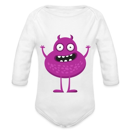 monster6 - Økologisk langermet baby-body