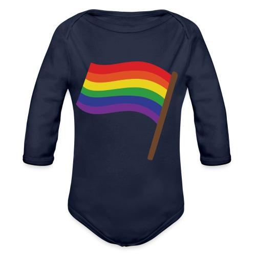 Regenbogenfahne | Geschenk Idee | LGBT - Baby Bio-Langarm-Body
