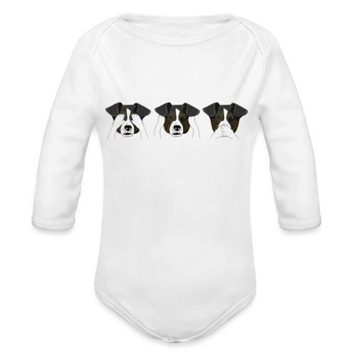 See No Evil - Organic Longsleeve Baby Bodysuit