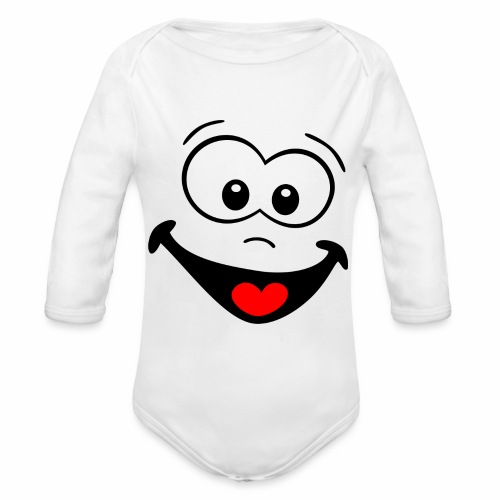 Gesicht lachen - Baby Bio-Langarm-Body