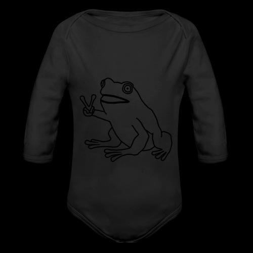 Funny Animal Frog Frosch - Baby Bio-Langarm-Body