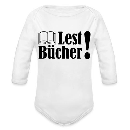 Lest Bücher ! 2 - Baby Bio-Langarm-Body