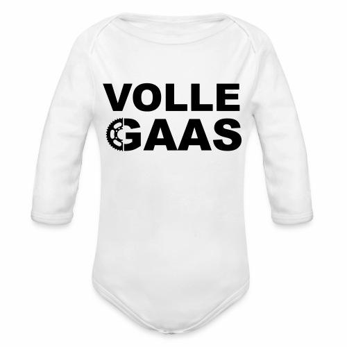 Volle Gaas - Baby bio-rompertje met lange mouwen