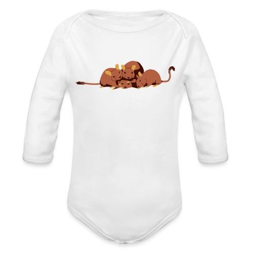 Kuschelhaufen (ohne Text) - Baby Bio-Langarm-Body