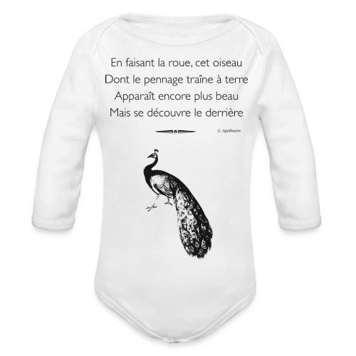 Le Paon d'Apollinaire - Body Bébé bio manches longues
