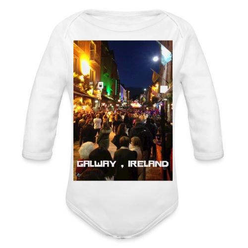 GALWAY IRELAND SHOP STREET - Organic Longsleeve Baby Bodysuit