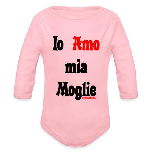 Amore #FRASIMTIME - Body ecologico per neonato a manica lunga