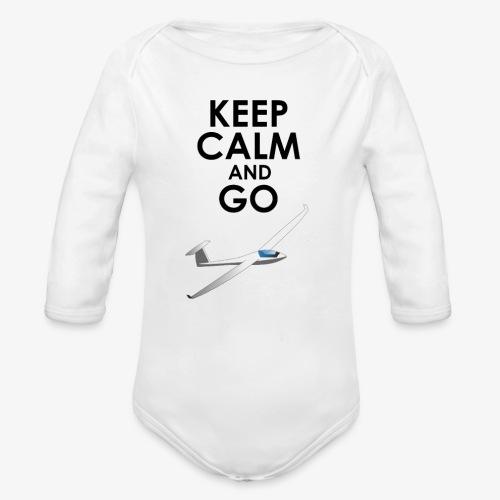 Keep Calm and Go Gliding - Body Bébé bio manches longues