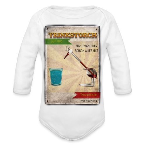 Trinkstroch Retro Vintage - Baby Bio-Langarm-Body