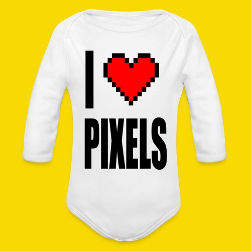 I Love Pixels - Ekologiczne body niemowlęce z długim rękawem