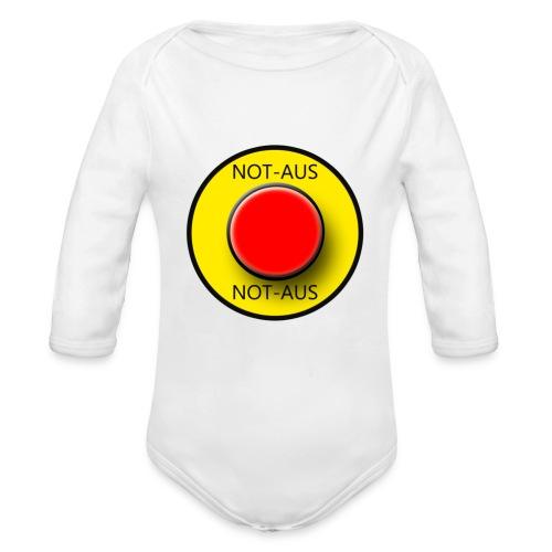 Notaus - Baby Bio-Langarm-Body