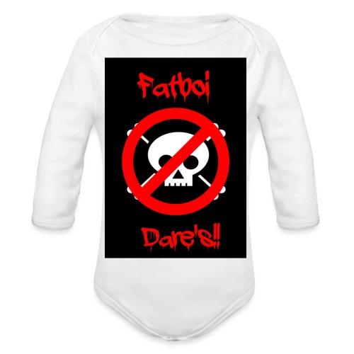 Fatboi Dares's logo - Organic Longsleeve Baby Bodysuit