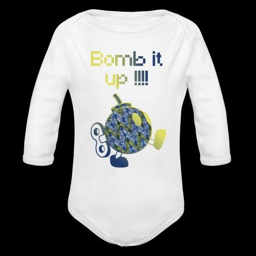 Bomb It Up : Blue Power !!! - Body Bébé bio manches longues