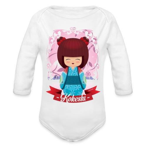 Kokeshi mod.2 - Body ecologico per neonato a manica lunga