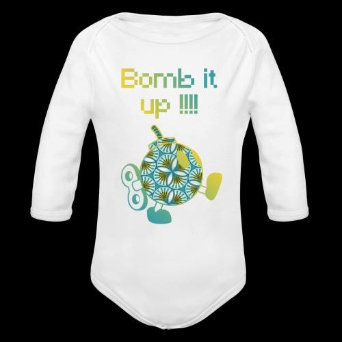 Bomb It Up : Yellow Power !!! - Body Bébé bio manches longues