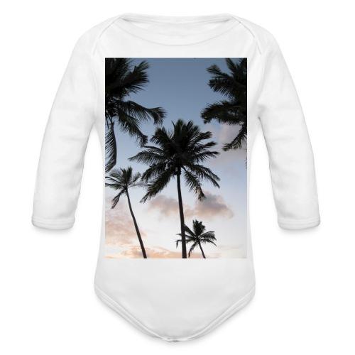 PALMTREES DOMINICAN REP. - Baby bio-rompertje met lange mouwen