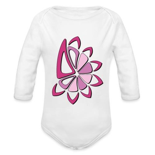 spicchi di sole multicolore rosa - Body ecologico per neonato a manica lunga