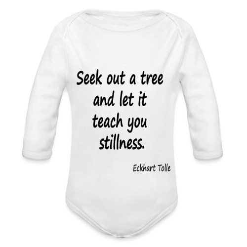 Tree for Stillness - Organic Longsleeve Baby Bodysuit