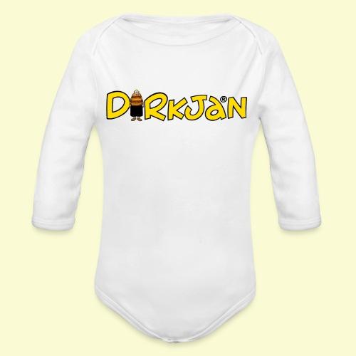 DIRKJAN Logo - Baby bio-rompertje met lange mouwen