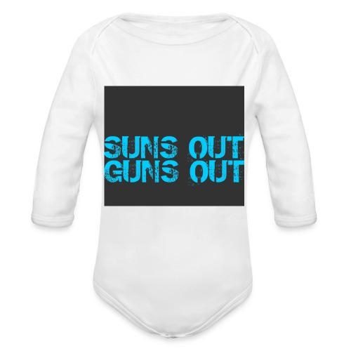 Felpa suns out guns out - Body ecologico per neonato a manica lunga