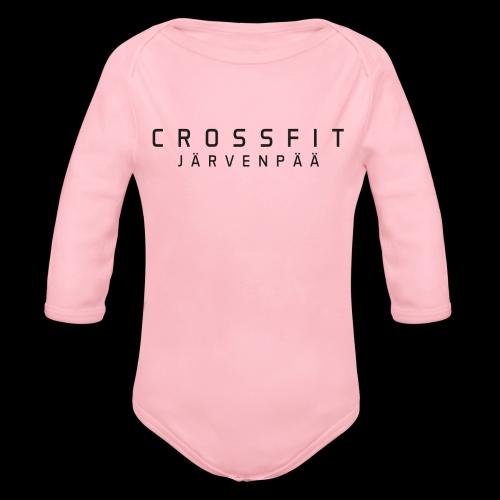 CrossFit Järvenpää mustateksti - Vauvan pitkähihainen luomu-body